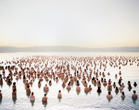 SPENCER TUNICK  earth/body works c-print mounted between plexi