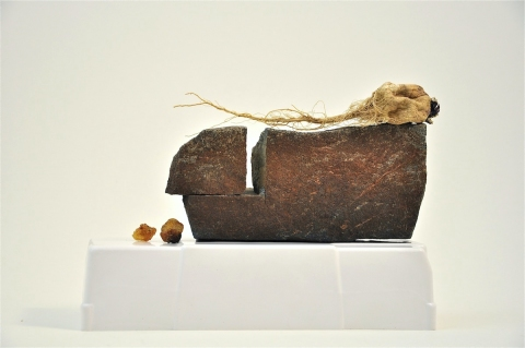 Nancy D. Brown Still, Life Hydrocal, rock, turnip, pitch