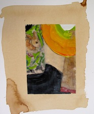 Nancy Ferro Works on Paper Mixed media: stain, pencil, papers, beeswax