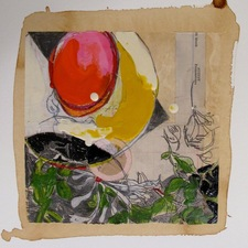 Nancy Ferro Works on Paper Mixed: Stain, pencil, papers, beeswax