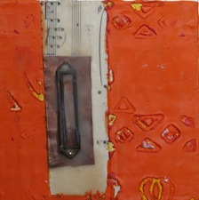 Nancy Ferro Works on wood and canvas paper, copper, brass hardware, and pigmented beeswax on wood