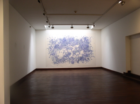 "Nancy Friedemann-Sánchez BLUE DRAWINGS 120"" x 180"""