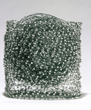 Nancy Koenigsberg Free-standing Annealed steel wire, glass beads