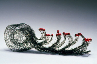 Nancy Koenigsberg Free-standing Annealed steel and coated copper wire