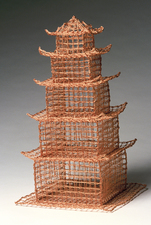 Nancy Koenigsberg Free-standing Twisted plied copper wire