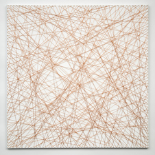 Nancy Koenigsberg Wall pieces Copper wire and nails on canvas