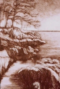 Nancy McTague-Stock Drypoint Landscapes Unique Drypoint 1/1