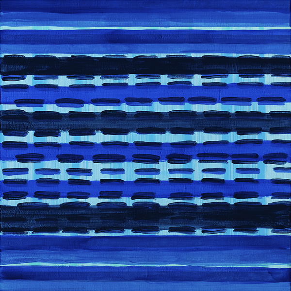 Paintings: New Work in Acrylic Electric Blue