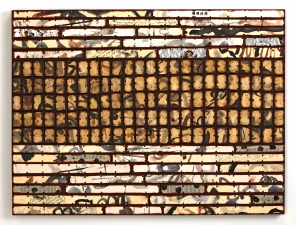 Archive - Sold Work Painted paper and cardboard, aluminum, oilstick, tacks, encaustic on panel