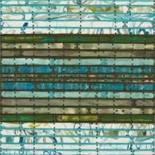 Archive - Sold Work Found and invented elements with tacks and encaustic on birch panel.