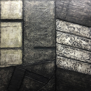 Nancy NATALE New Work - Paintings  oil over canvas and cardboard painted with encaustic