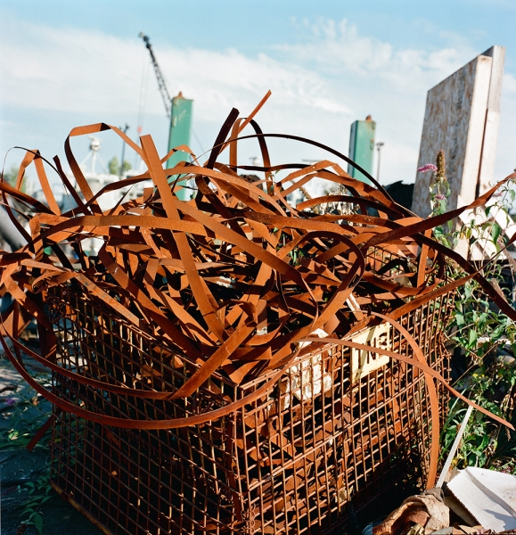 On the Duwamish Cart with Scrap Metal