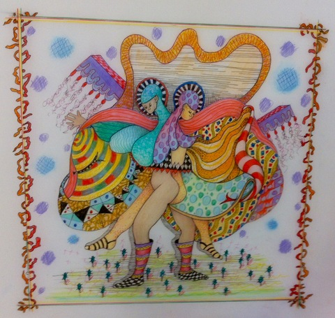 Nancy Reinker Drawings mixed media on frosted Mylar