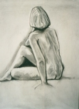 Nancy Scheer Drawings Charcoal and Conte on paper