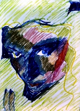 Nancy Scheer Collections Watercolor Monoprint