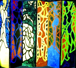 Nancy Scheer Collections Acrylic on Wood Screen