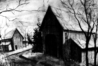 Nancy Scheer Drawings Charcoal on paper