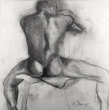 Nancy Scheer Collections Charcoal on paper