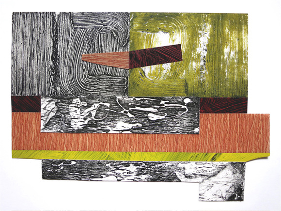 "Nanette Carter  ""The Weight"", Collagraphs 2015 oils on Arches paper and Mylar"