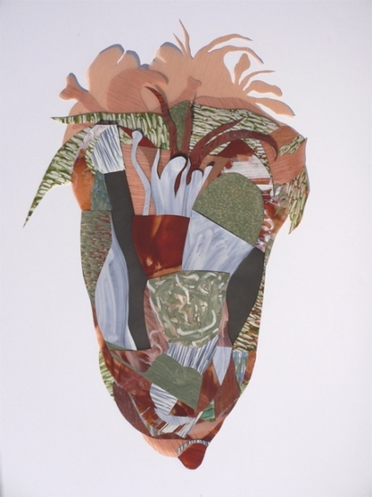 "Nanette Carter    2012 Miami Exhibit, ""In the Garden: The Animist"" and ""Bouquet for Loving"" 2009-2012    oils on Mylar"