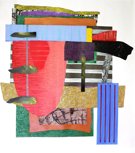 "Nanette Carter  ""Cantilevered""  2013 - 2018  oils on mylar"