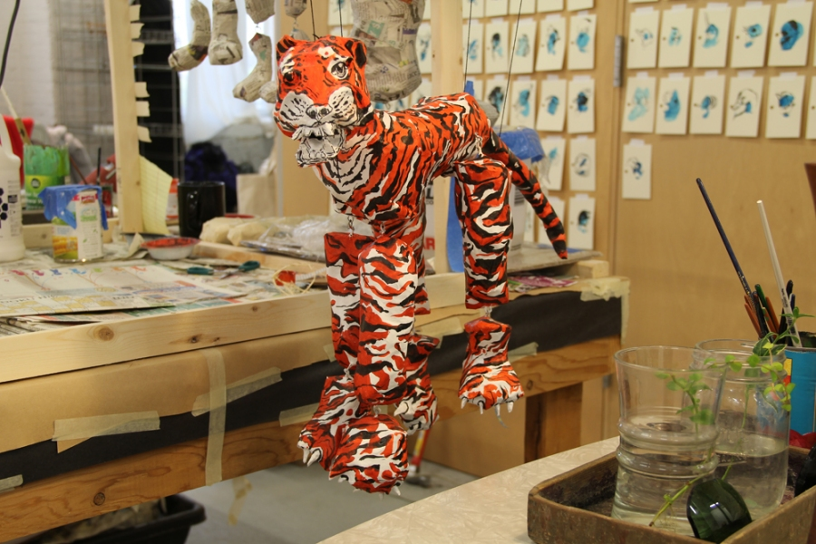 Bemis Residency Tiger Puppet (in progress)