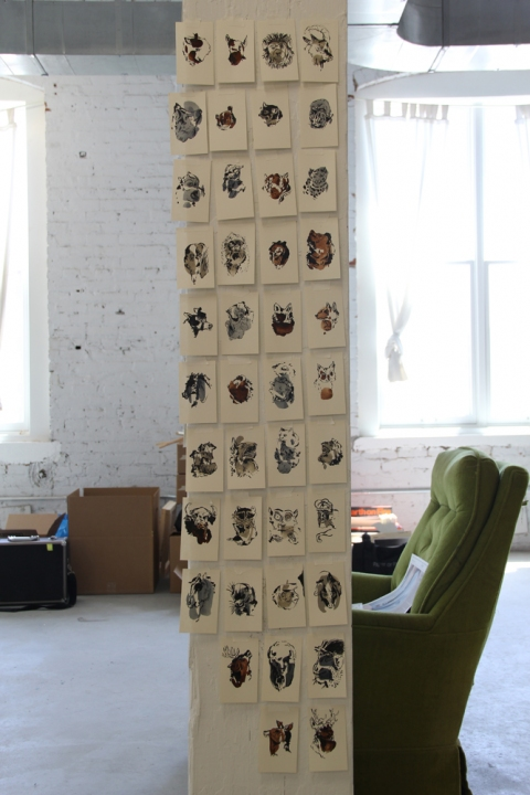 Bemis Residency Bestiary Project (ongoing), installation view