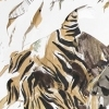 Implausible Tiger Monotype on cut paper