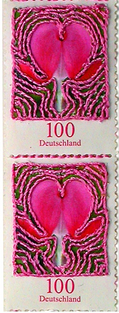 Nicola Ginzel  THREAD  Monochromatic Fragments - 2009 - continued German Stamps, thread