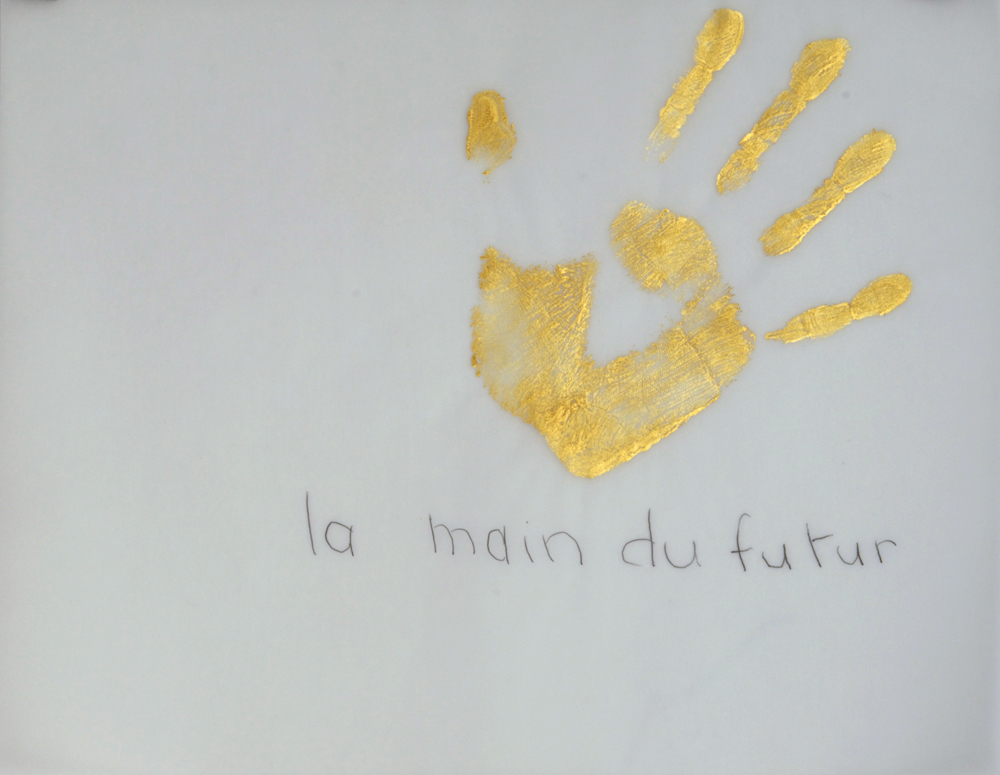 Gold Handprint Project la main du futur