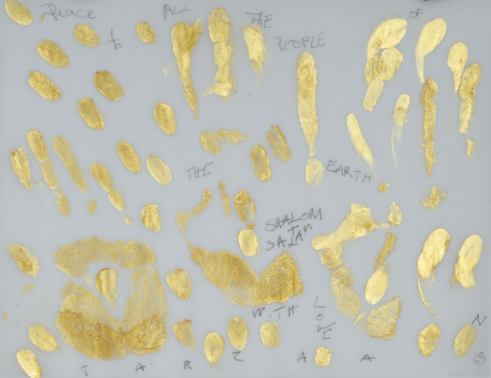 Gold Handprint Project Peace to all the people of the earth