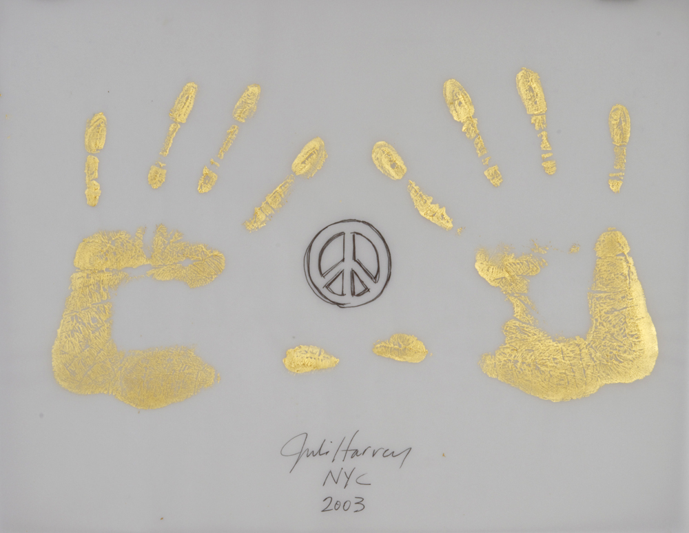 Gold Handprint Project Julie Harvey