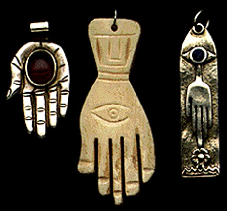 Gold Handprint Project Hand Amulets