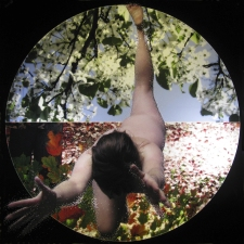 Nicola Woods Striking, illuminated photographs exploring the figure, chakras, nature and the universe, 2011-14 Lightjet transparency (pierced) and mounted in a light panel