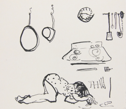 Nicole Ouellette Drawings Ink on paper