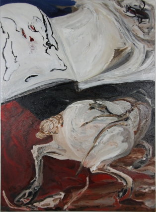 Nicole Ouellette Open Book Fracture Oil on canvas
