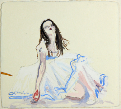 Nicole Ouellette Attack on Beauty Watercolor and pencil on paper