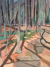 Niels Burger Woods Paintings acrylic gauche on panel