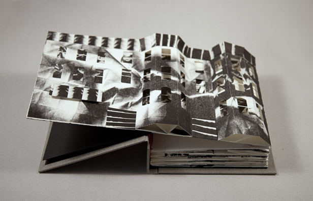 NOAH BREUER Collapse of the Home Pop-Up Book Lithographic Pop Up Book