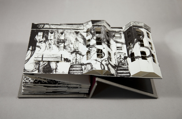 Collapse of the Home Pop-Up Book Krista Peters