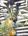 Searching Soldiers Watercolor