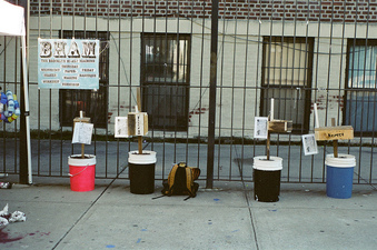 Oasa DuVerney Brooklyn Hi-Art Machine wood, buckets, sand, pvc, herbs
