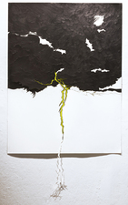 Oasa DuVerney Drawings graphite and neon ink on hand cut paper