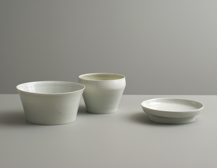 2013 Group of three in celadon glazes