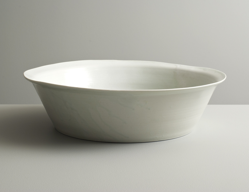 2013 Large open form in running celadon glazes (#130437)
