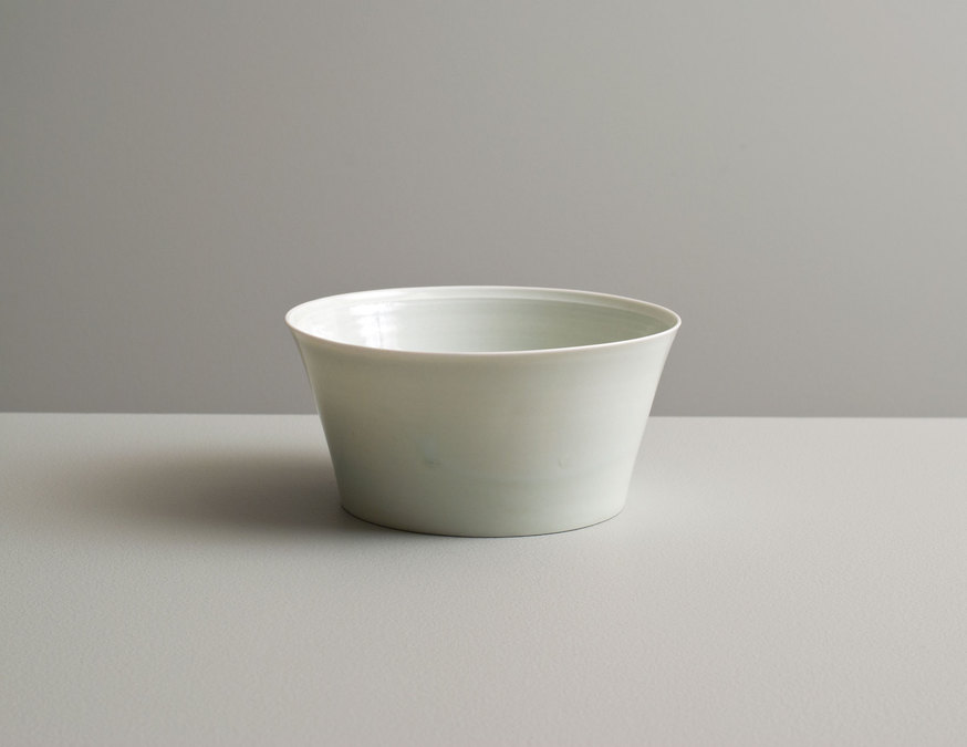 2013 Taut upright bowl in water-celadon glaze (#130410)