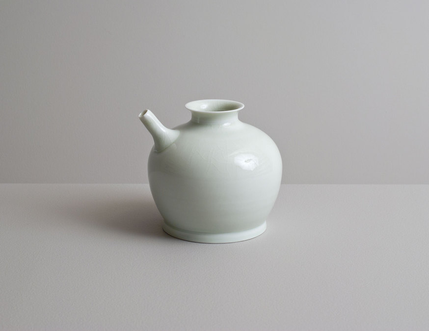 2014 Small ewer in celadon glaze