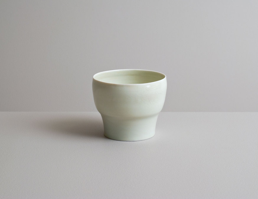 2014 Translucent tea bowl in celadon glaze