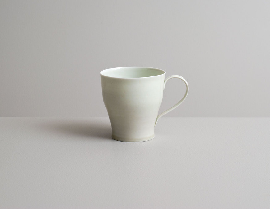 2014 Cup in celadon and ivory-green glazes (#140303)