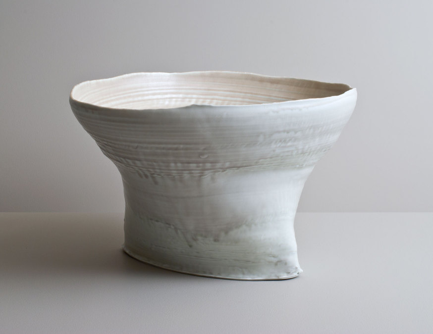 2014 Large cantilevering form in muted celadon glazes (#140353)